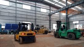 Công ty Đông Đô thực hiện vận chuyển, lắp đặt máy tại KCN Đồng Nai.