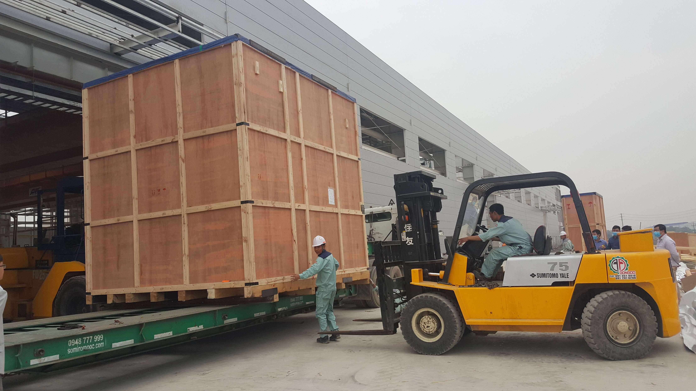 Thuê xe nâng hàng tại KCN Đình Trám